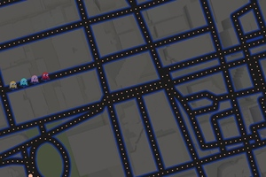 Google Maps Pacman Art Wallpaper