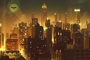 Gotham City Digital Art 4k