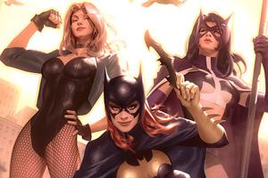 Gotham City Sirens Artwork Wallpaper