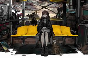 Gothic Anime Girl 4k Wallpaper