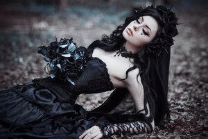 Gothic Black Bride
