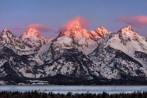 Grand Teton Alpenglow Wallpaper