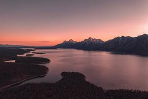 Grand Tetons Body Of Water 5k Wallpaper