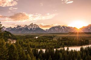 Grand Tetons Landscape 4k Wallpaper
