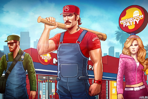 Grand Theft Auto Mushroom Party Wallpaper