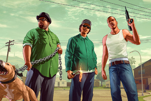 Grand Theft Auto San Andreas Fanart Wallpaper