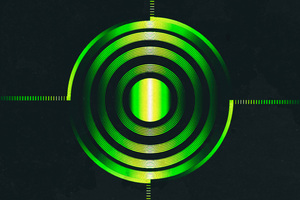 Green Abstract Circle 4k Wallpaper