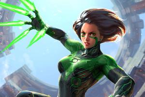 Green Alita Battle Angel