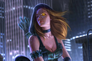 Green Arrow Girl Wallpaper