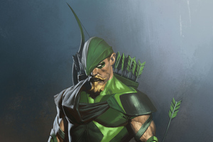 Green Arrow Injustice 2 Art 4k