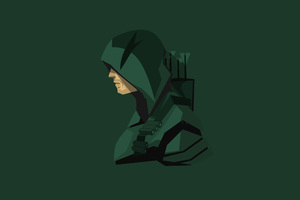Green Arrow Minimalism 4k