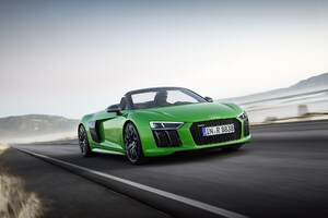 Green Audi R8 Wallpaper