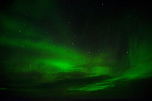 Green Aurora Borealis 8k