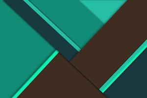 Green Brown Material Design 8k