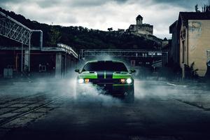 Green Dodge Challenger 4k 2020 Wallpaper