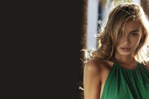 Green Dress Blonde Wallpaper