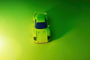 Green Ferrari F40 Top Wallpaper