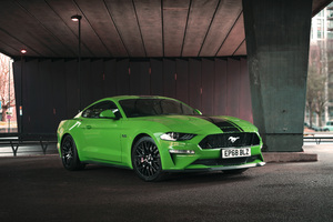 Green Ford Mustang GT Fastback 2019 Wallpaper