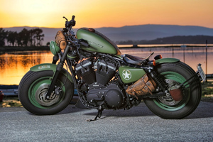 Green Harley Davidson 4k Wallpaper