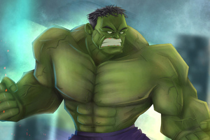 Green Hulk Artwork Wallpaper