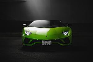 Green Lamborghini Aventador S Roadster 4k Wallpaper