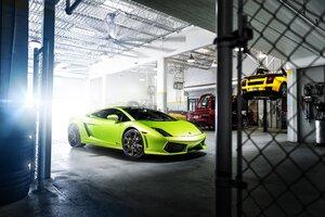Green Lamborghini Gallardo Wallpaper