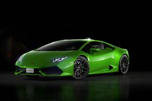 Green Lamborghini Huracan Front