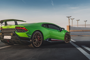 Green Lamborghini Huracan Performante 4k 2020 Wallpaper