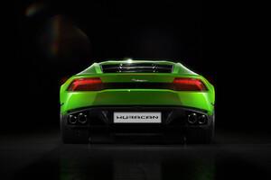 Green Lamborghini Huracan Rear
