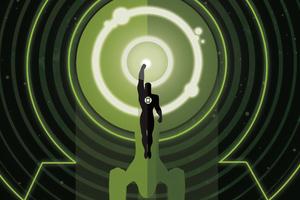 Green Lantern 4k Minimal