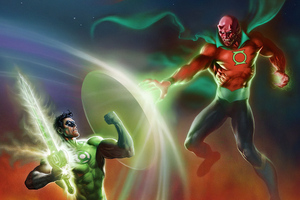 Green Lantern And Villian