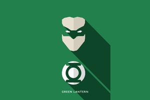 Green Lantern Minimalism 4k