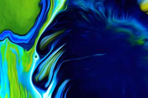 Green Liquid Spill Abstract 4k