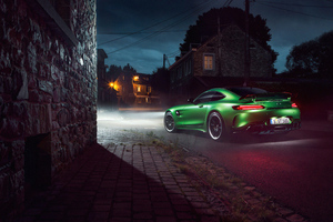 Green Mercedes Amg Gtr 4k Wallpaper