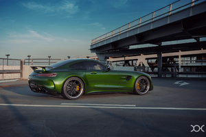 Green Mercedes Benz Amg GT Car