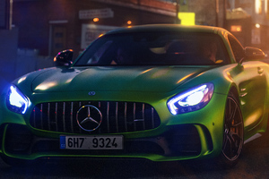 Green Mercedes Gt 4k Wallpaper