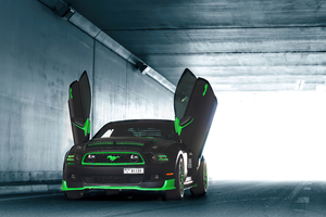 Greenwolf Mustang Scissor Doors 4k Wallpaper