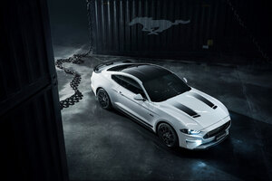 Grey Ford Mustang Wallpaper