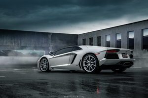 Grey Lamborghini Aventador 5k 2019 Wallpaper