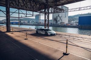 Grey Lamborghini Car Wallpaper