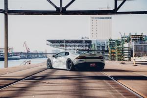 Grey Lamborghini Car Rear Wallpaper