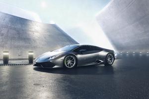Grey Lamborghini Huracan 4k