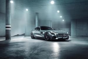 Grey Mercedes Benz Amg GT 4k