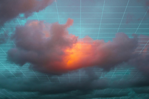 Grid Clouds Abstract 4k Wallpaper