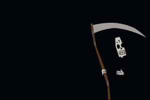 Grim Reaper Minimal 4k