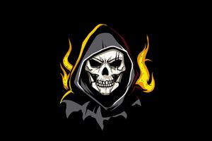 Grim Reaper Minimal Art 4k