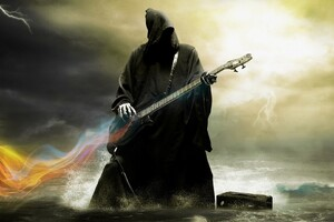 Grim Reaper Playing Guitar Wallpaper