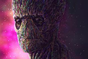 Groot Digital Art 4k