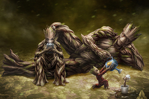 Groot Evolution Wallpaper