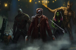 Guardians Of The Galaxy Artwork 4k Wallpaper